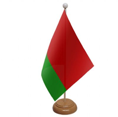 BELARUS - TABLE FLAG WITH WOODEN BASE